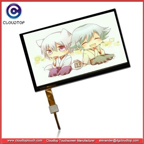 21.5寸电容触摸屏USB接口工厂生产安防广告一体机