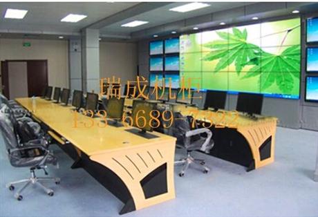 厂家直销 监控台 调度台 指挥中心控制台 圆柜门豪华监控台 厂家