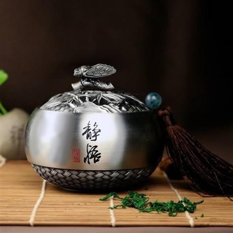 成都市纯锡工艺品茶叶罐批发定做