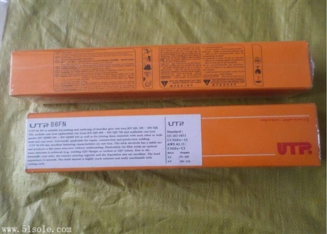 德国UTP 86 FN铸铁焊条ENiFe-Cl铸铁焊条现货2.5/3.2/4.0mm