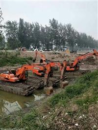 湖北省武汉租赁水陆两用挖机优惠价多少