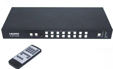 高清画面分割器 派尼珂NK-HD4009HDMIQ高清HDMI九画面分割器