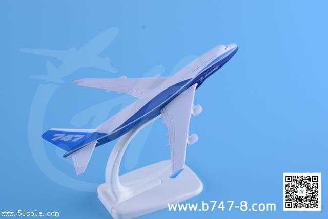 金属飞机模型波音原型机B747-400静态桌面航模玩具商务礼品16厘米