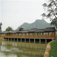風雨橋廊 風雨廊橋制作生產廠家 南平市古典蓋青瓦木結構長廊 舉