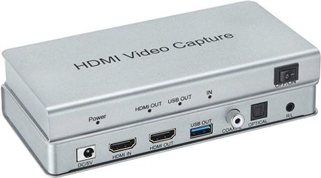 USB3.0直播采集盒  派尼珂USB 3.0 直播采集盒卡音频分离