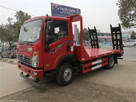 王牌平板运输车价格 6-8吨挖机拖车