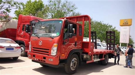 大运平板运输车价格 可拉15吨