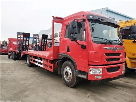 解放龙V平板运输车价格 可拉15吨