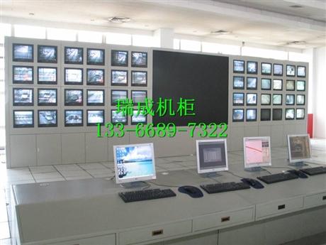 厂家直销 监控屏幕 电视墙 操作台机柜 播音桌非编台案操作台电视