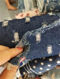 清仓牛仔面料论斤 布头薄弹性 碎布头纯棉衬衫夏季练手全棉厚布料