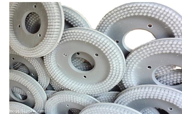 厂家供应优质PVC板尼龙丝圆盘刷 钢丝圆盘刷 磨料丝圆盘毛刷