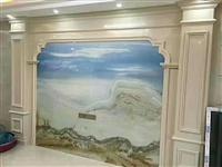 石塑背景墙3D画打印画厂家包安装