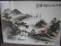 汪野亭瓷板画的特点是什么
