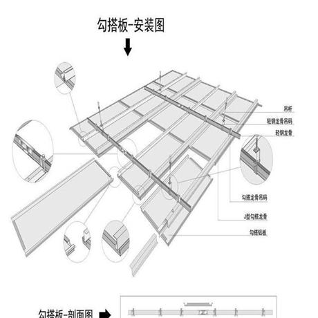 铝单板吊顶无缝按装图