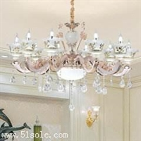 客厅灯具 蜡烛水晶吊灯 锌合金吊灯