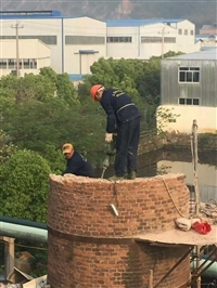 苏拆除砖烟囱