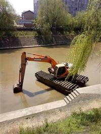 广东水陆两用挖掘机出租改装工程