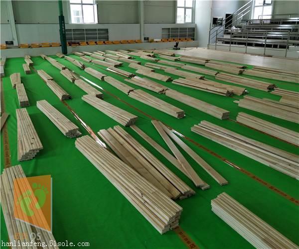 白山柞木篮球场专用地板品牌  篮球场专用地板