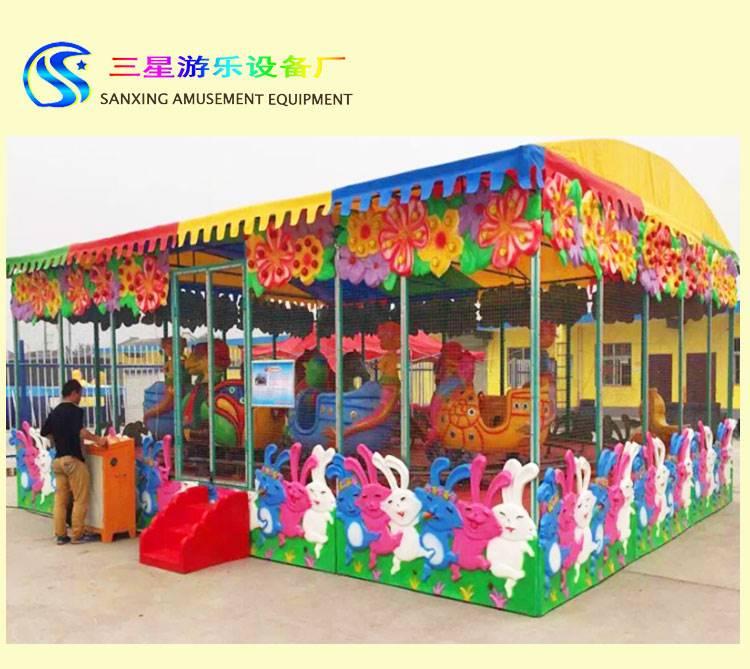 儿童喷球车广场娱乐项目 小型亲子室内儿童 喷球车游乐设施