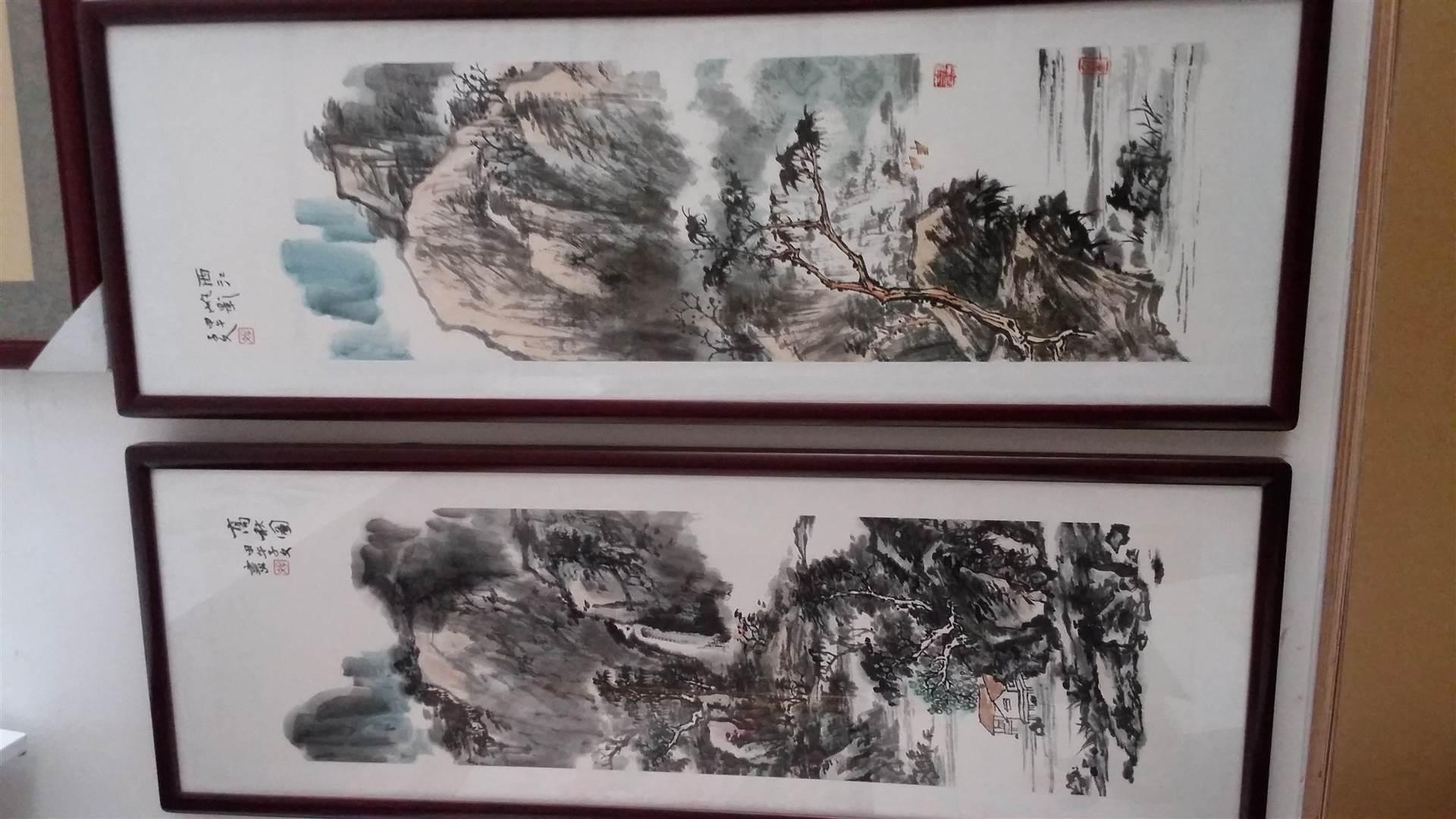深圳 风水画 水墨国画 祝寿画 装表公司