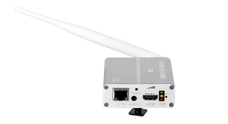 H265带电池WIFI编码器 迷你H265无线wifi+锂电池HDMI高清编码器