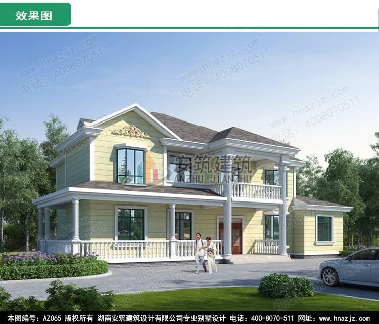 别墅图纸,新农村自建房设计图及效果图    注:图纸为湖南安筑建筑设计