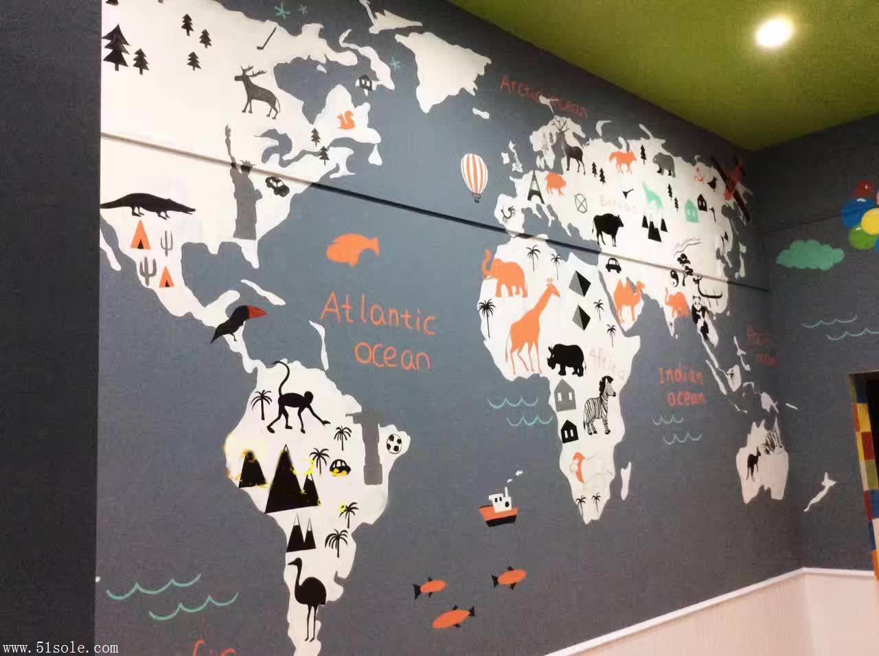 深圳办公室彩绘 深圳公司励志墙绘 办公室背景墙 追梦