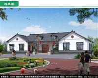 AZ005新款一层中式双拼别墅图纸,农村自建房兄弟双拼合建房