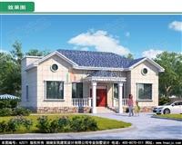 AZ071新农村一层带阁楼自建房图纸,洋气小楼房施工图及效果图