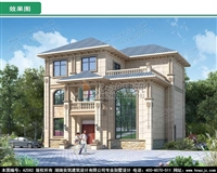 AZ082三层高档别墅图纸设计,农村自建房小别墅复式客厅