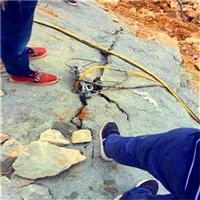 石灰石开采炸药用不了静态裂石机湖南衡阳作业视频