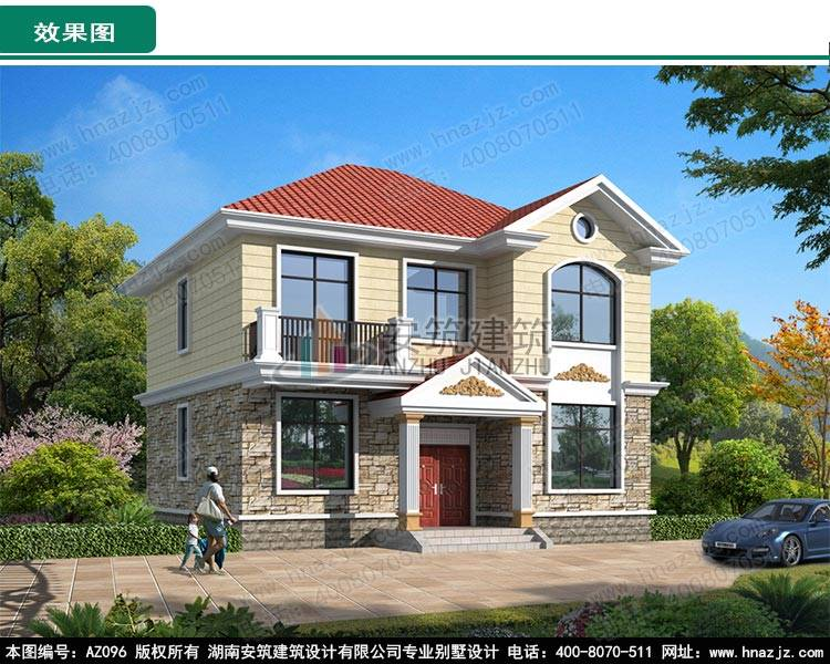 企业资讯 az096二层别墅设计图纸    注:图纸为湖南安筑建筑设计有限
