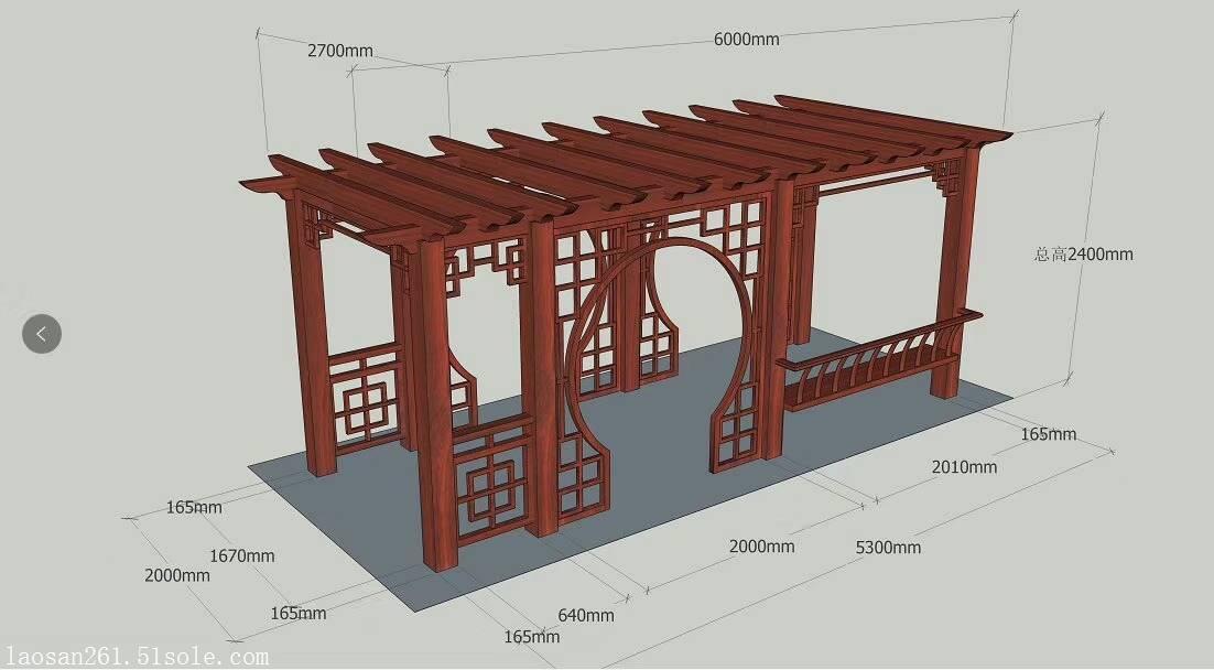 独栋花园别墅铝合金葡萄架v基础预埋基础图纸钢结构图片