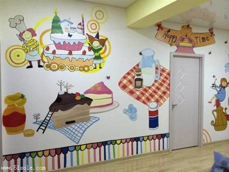 深圳主题彩绘 甜品店彩绘 网红店墙绘 追梦墙绘