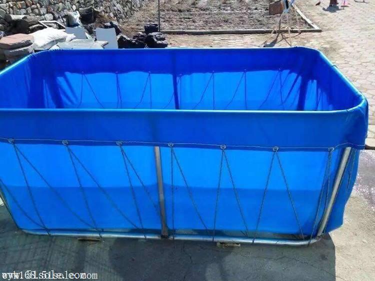 定制养鱼帆布水池  刀刮布抗老化篷布养鱼池 防水帆布罩安装