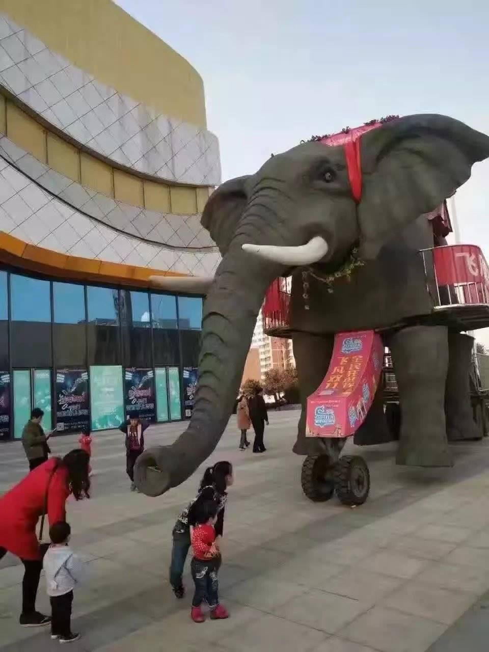 巡游霸气行走机械大象现货出租