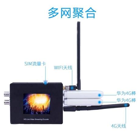 4G无线多网聚合微直播编码器 派尼珂4G无线五网聚合微直播编码器