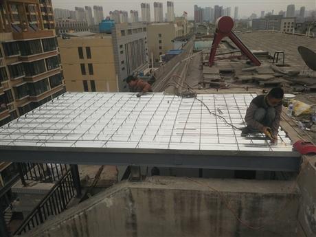 石家庄钢结构封阳台,露台封顶现
