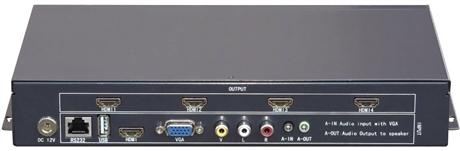 4路多接口液晶电视拼接器 派尼珂四画面液晶电视机拼接器NK-LCD51