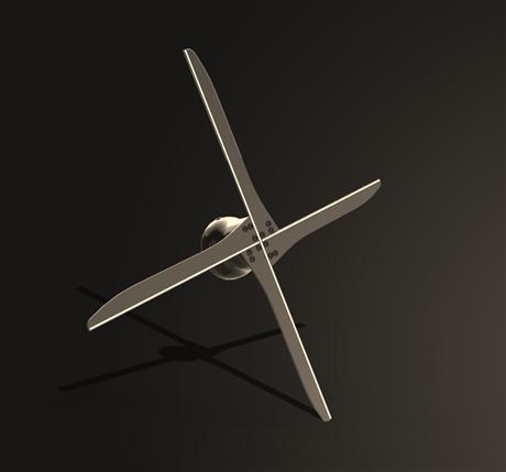 升级版4叶超清WIFI裸眼3D风扇创意壁挂式3D全息广告机累积返利