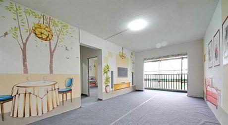深圳水清样板房墙体彩绘 情景样板房手绘 3d立体画 追梦墙绘