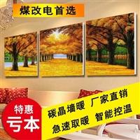 厂家直销 碳纤维墙暖画 碳晶墙暖画壁挂防水电热画