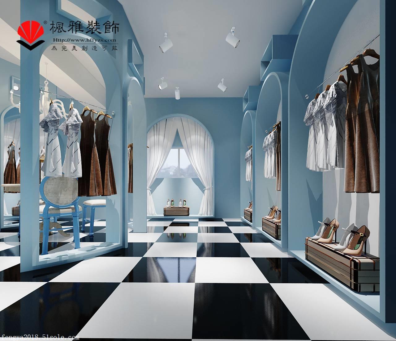 合肥服装店装修,特色服装店装修,地中海式服装店装修