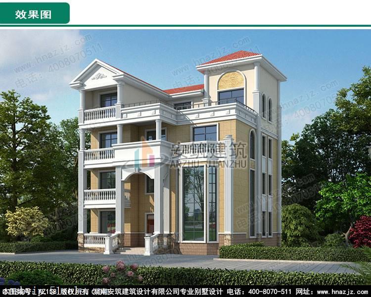 農村四層樓房設計圖,占地120平方米,歐式風格,高端大氣
