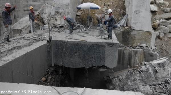 北海污水溝拆除切割