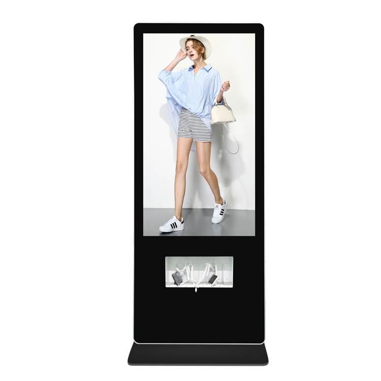 鑫飞55寸充电广告机 液晶显示器手机充电站 多功能充电一体机