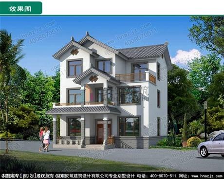 三层新中式别墅图纸设计,民宿风