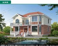 AZ138二层欧式别墅,新农村住宅自建,全套施工图效果图