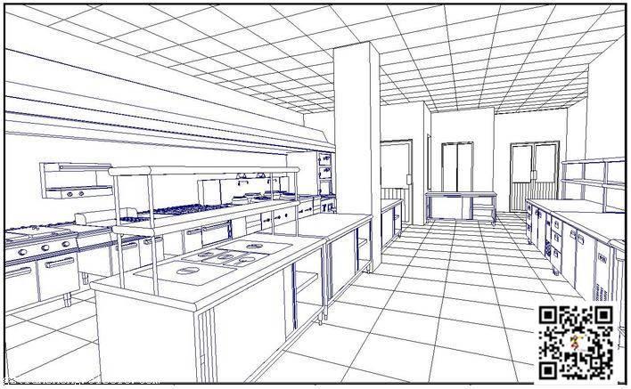 商厨工程图纸、肇庆养老院厨房工程、养老院厨房工程设计