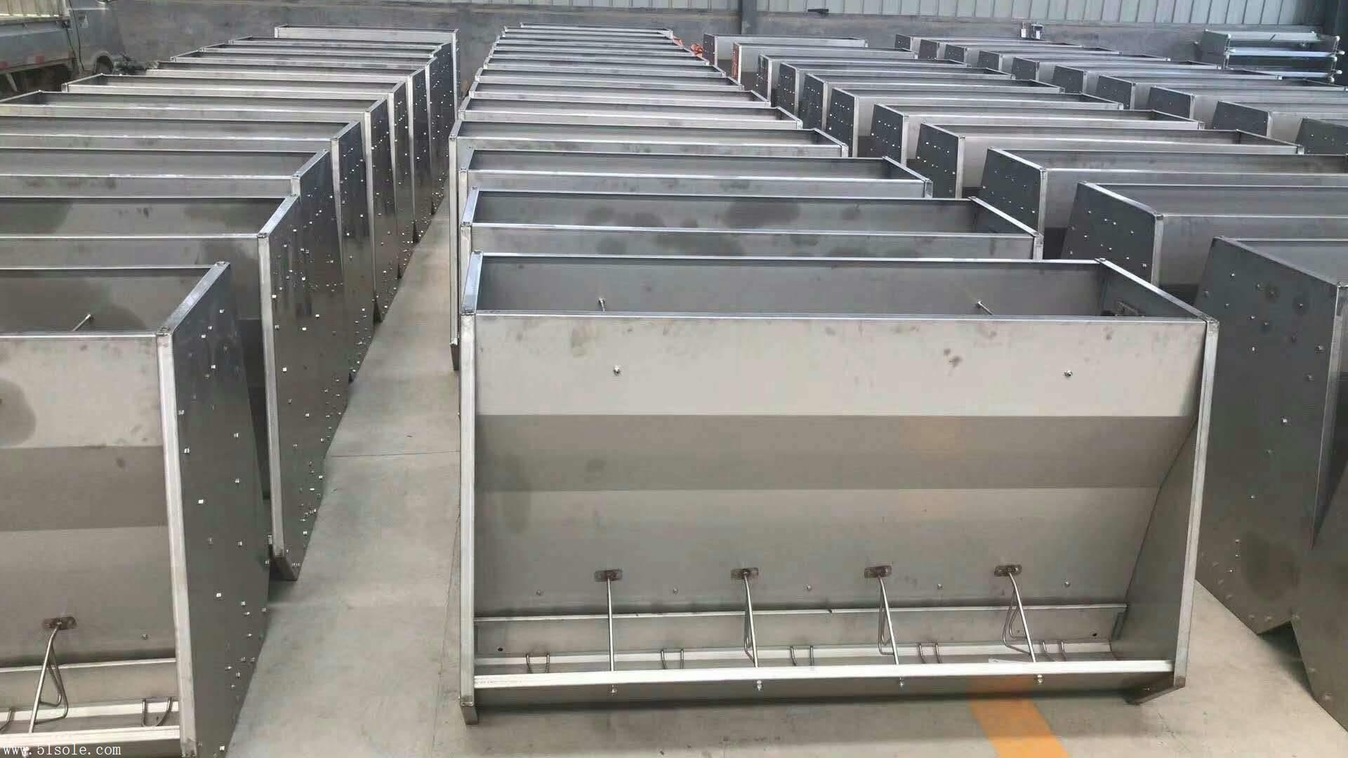 不锈钢料槽  双面料槽  喂料器  食槽 豫腾飞
